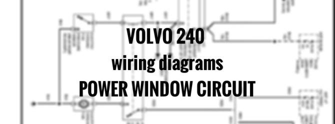 volvo 240 power window wiring diagram  description wiring