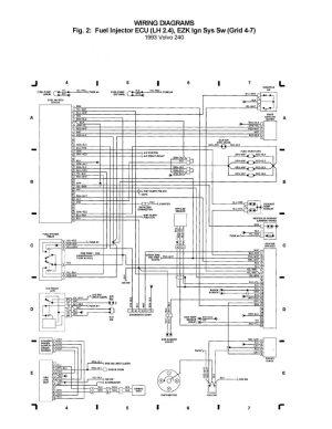 Volvo 240 (1993)  wiring diagrams  Fuel injector ECU (LH