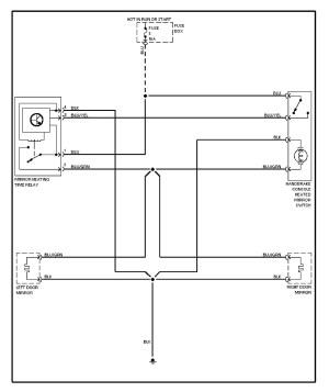 Volvo 240 (1991  1993)  wiring diagrams  heated mirrors