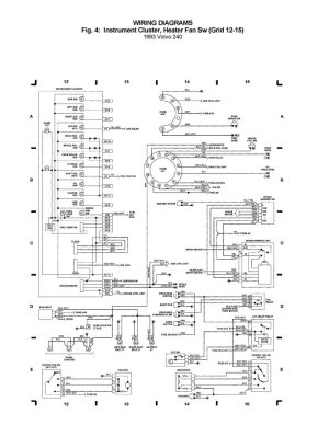 Volvo 240 (1993)  wiring diagrams  instrument cluster