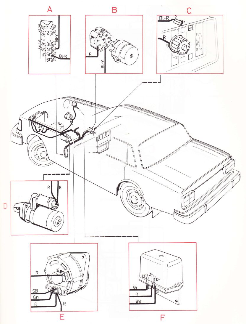 Volvo 240 1975 wiring diagrams main wiring harness