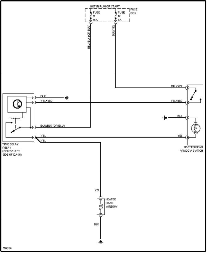 volvo 240 1991  1993  wiring diagrams  rear defogger