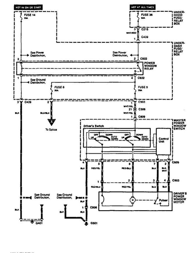 acura integra 1994  1996  wiring diagrams  power