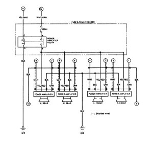 Acura Legend (1988)  wiring diagram  audio  CARKNOWLEDGE