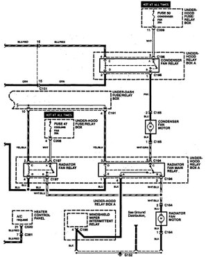 Acura Legend (1994)  wiring diagrams  cooling fans