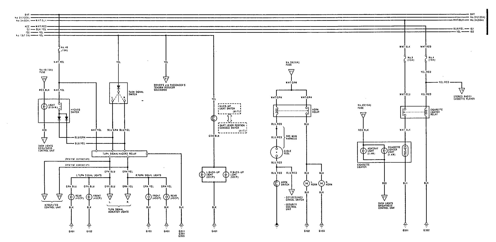 Diagram 91 Acura Legend Fuse Box Diagram Full Version Hd