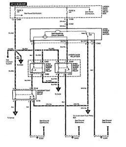 Acura Vigor (1994)  wiring diagrams  wiperwasher