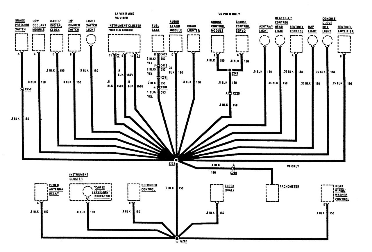 Buick century wiring diagrams ground distribution part 2