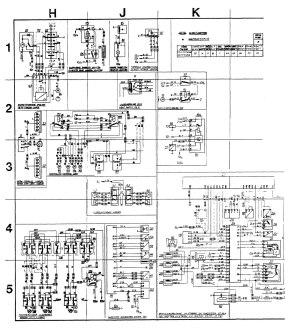 Volvo 244 (1989)  wiring diagrams  instrumentation