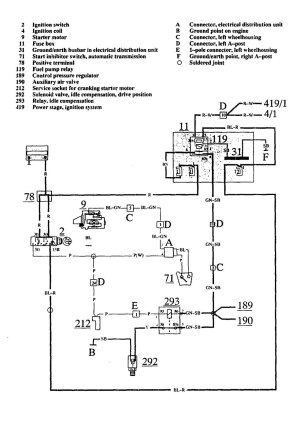 Volvo 740 (1991)  wiring diagrams  fuel pump  CARKNOWLEDGE