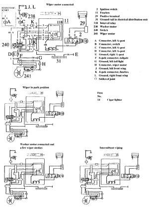 Volvo 740 (1990  1991)  wiring diagrams  wiperwasher
