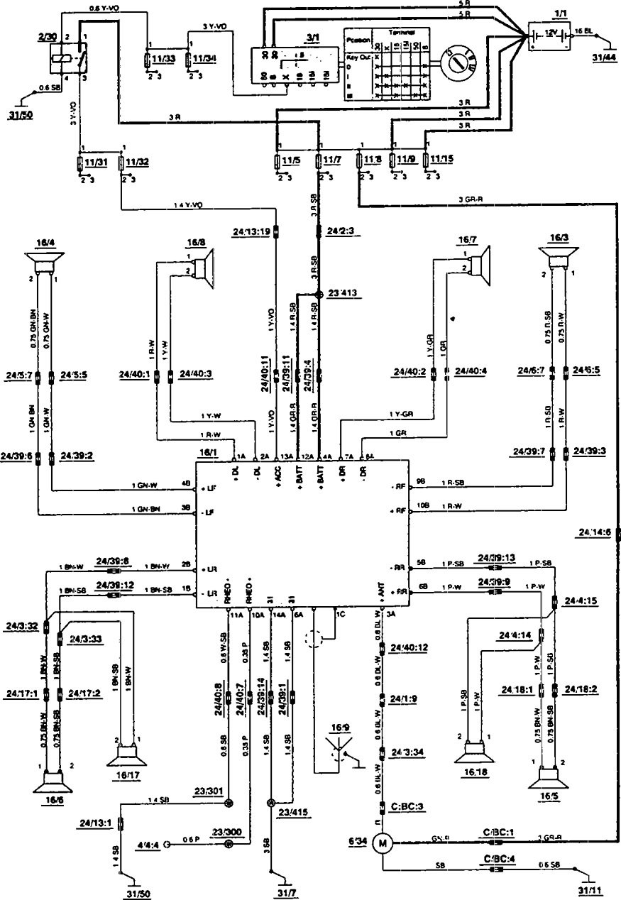 Fortable 1994 volvo 850 wiring diagram photos simple wiring