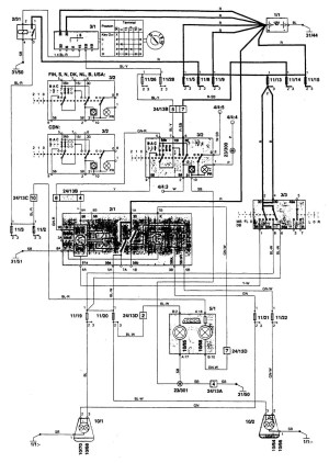 Volvo 850 (1996)  wiring diagrams  headlamps  CARKNOWLEDGE