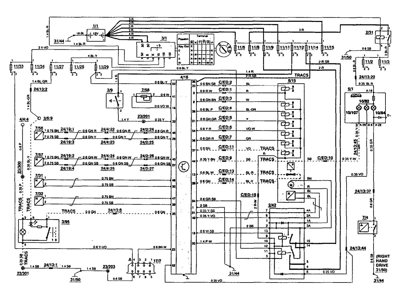 1996 Volvo 850 Stereo Wiring Diagram : Volvo radio wiring diagram jeffdoedesign