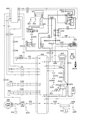 Volvo 940 (1995)  wiring diagrams  ignition  CARKNOWLEDGE