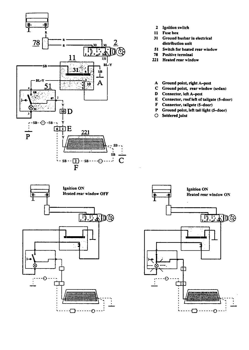 1995 Volvo 850 Wiring Diagram Schematics 1993 Honda Prelude Electrical System 940 Instrument Cluster Radio