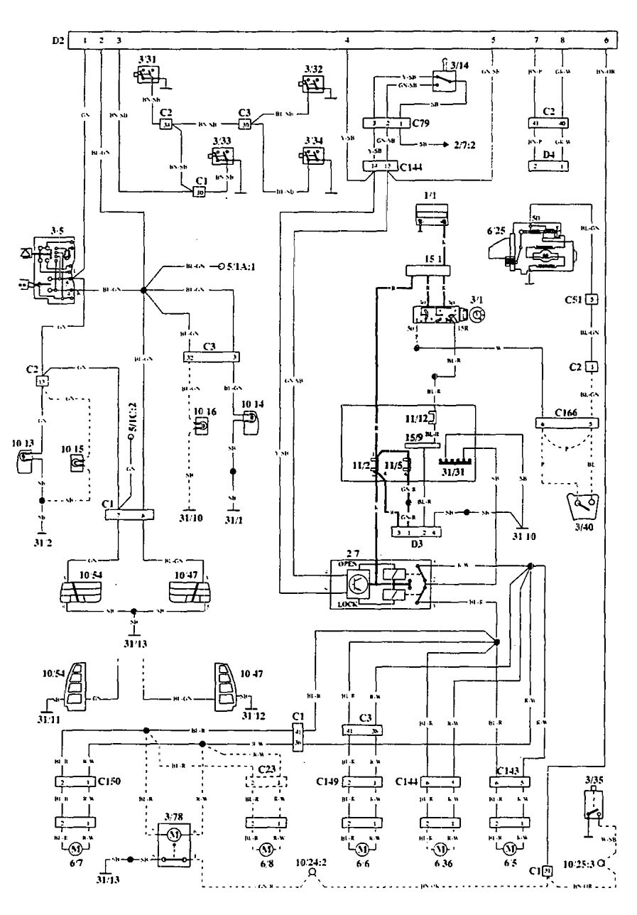Volvo 940 Ignition Wiring Diagram Electrical Diagrams Fl10 Penta Schematic 850 5 7