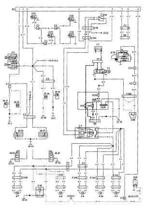 Volvo 940 (1994  1995)  wiring diagrams  securityanti