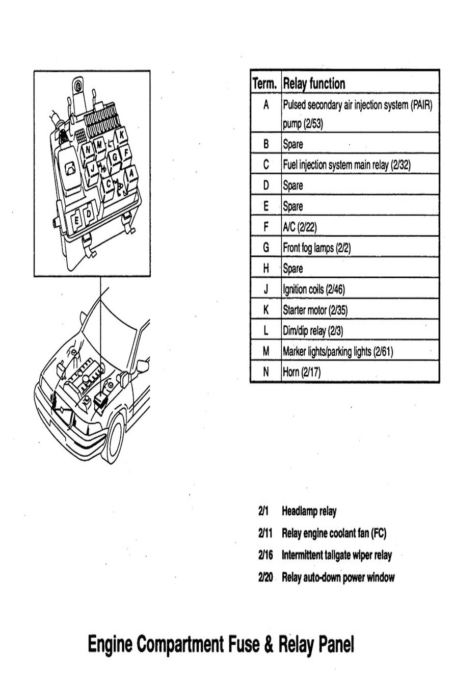 1997 Mercury Tracer Engine 1993 Diagram