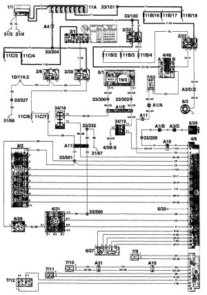 Volvo 960 (1996)  wiring diagrams  HVAC controls