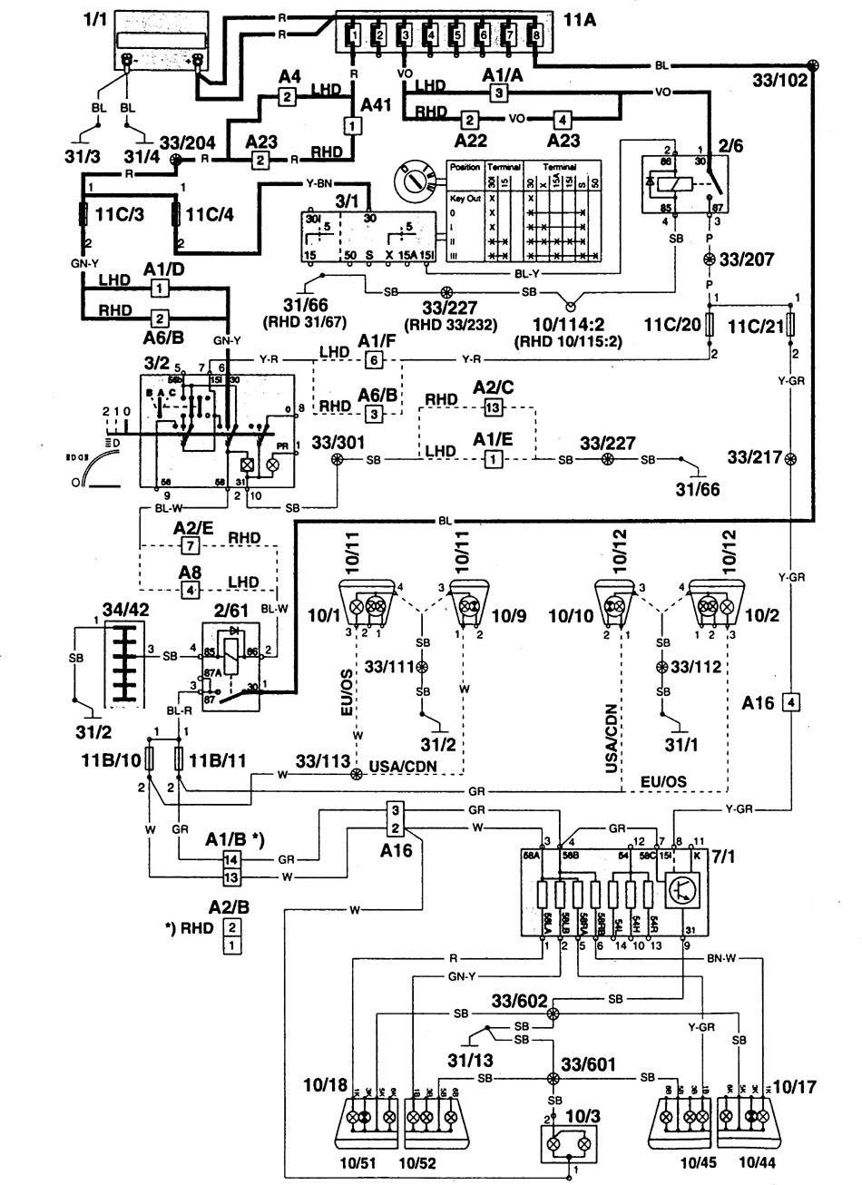 Volvo 960 1995 wiring diagrams license plate l carknowledge 1997 volvo 960 wiring diagram