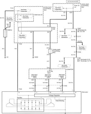 Acura TL (2007  2008)  wiring diagrams  charging system  CARKNOWLEDGE