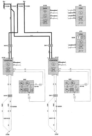 Volvo V70 (2001)  wiring diagrams  keyless entry  CARKNOWLEDGE