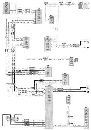 Volvo V70 (2001)  wiring diagrams  power distribution  CARKNOWLEDGE