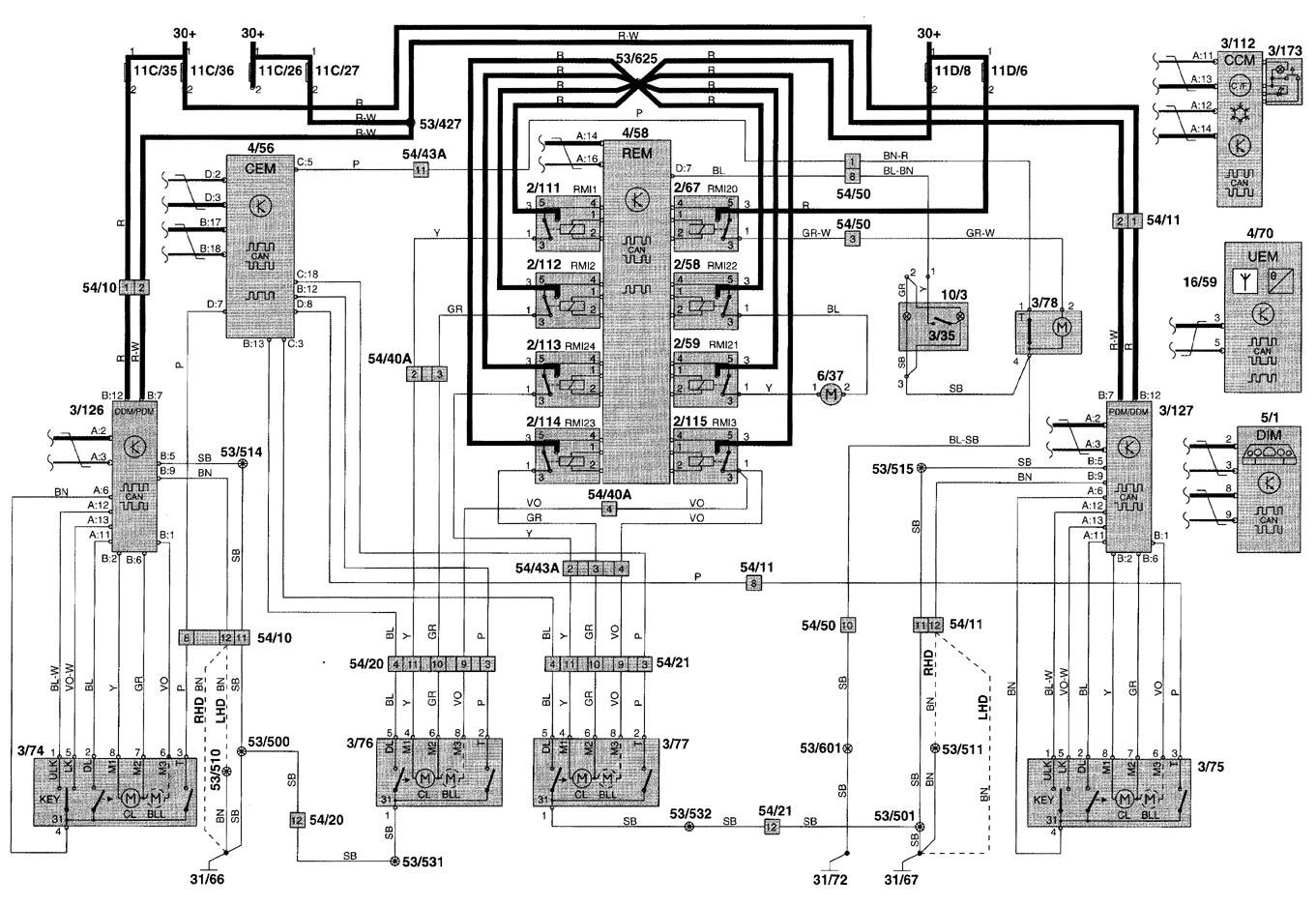 2001 Volvo V70 Wiring Diagram