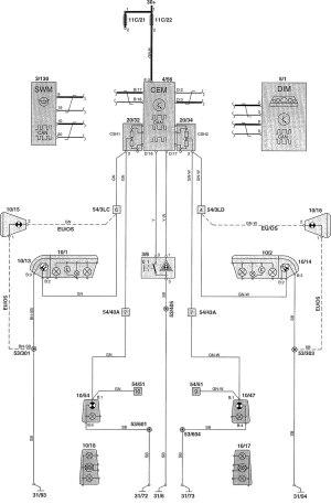 Volvo V70 (2002)  wiring diagrams  warning lamps