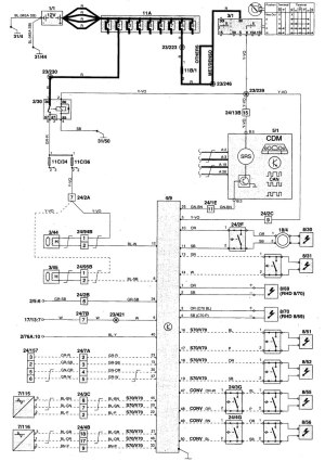 Volvo S70 (1999  2000)  wiring diagrams  air bags