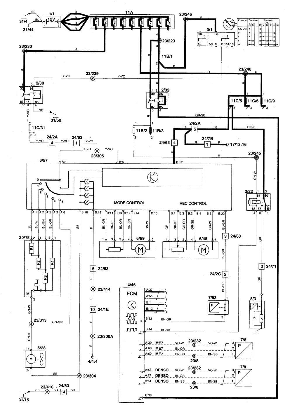 [DIAGRAM_5NL]  A4AC65 Wiring Diagram 1998 Volvo V70 Glt | Wiring Resources | Volvo V70 Schematics |  | Wiring Resources