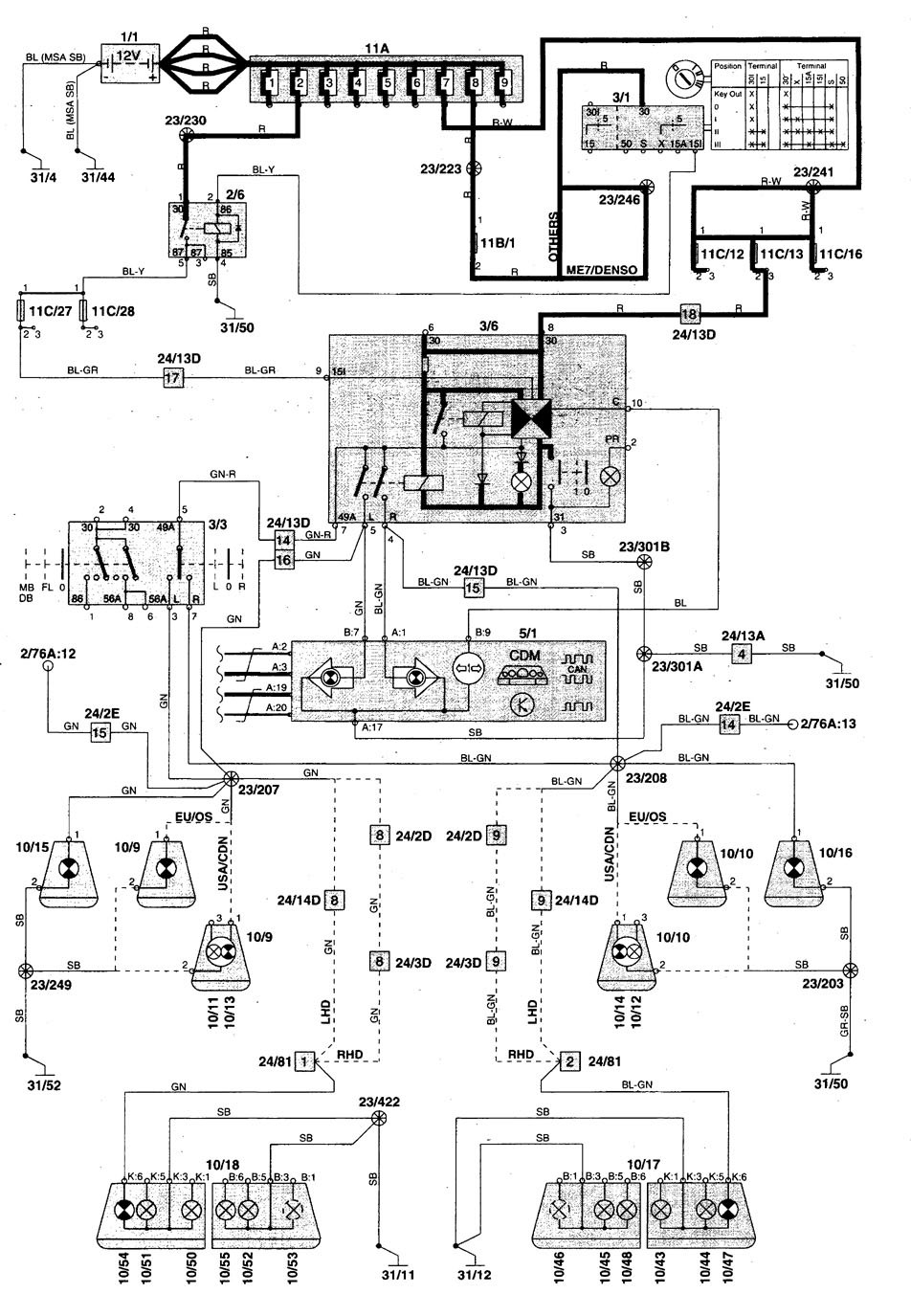 Volvo 960 Radio Wiring Diagram 1992
