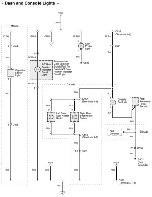 Acura RL (2011)  wiring diagrams  console lamp