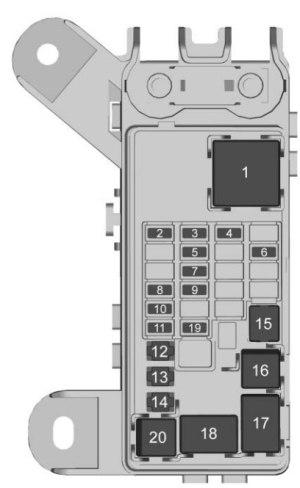 Chevrolet Suburban (2017) – fuse box diagram  CARKNOWLEDGE