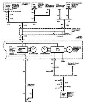 Acura CL (1997)  wiring diagrams  instrumentation
