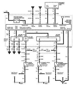 Acura NSX (1997  2004)  wiring diagrams  power locks