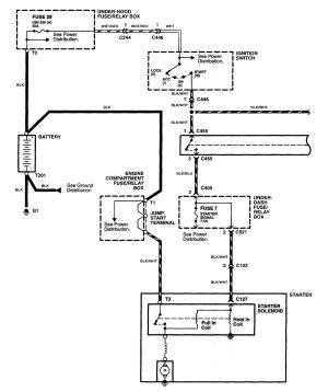 Acura NSX (1997  2005)  wiring diagrams  starting