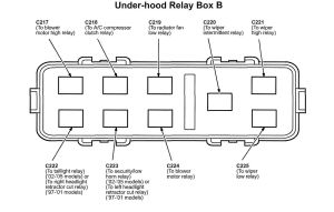 Acura NSX (2005)  wiring diagrams  fuse panel  CARKNOWLEDGE