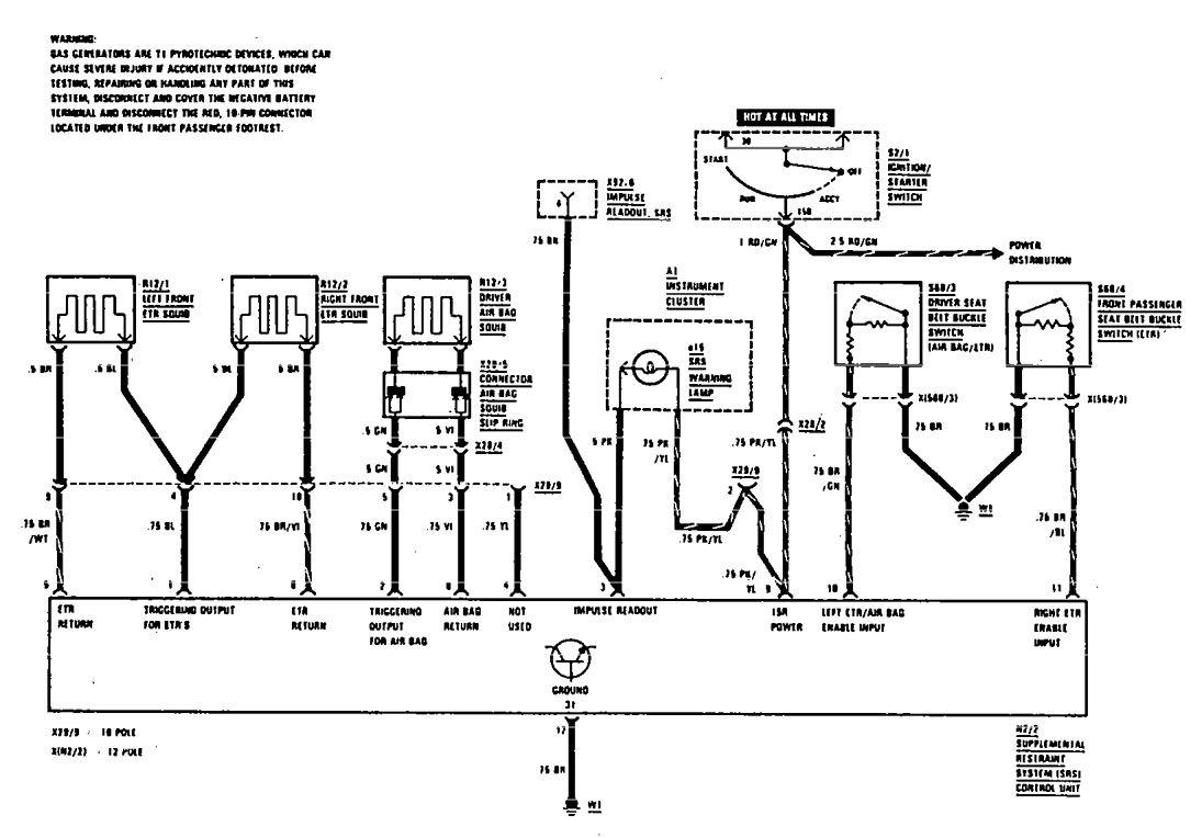 1986 Mercedes 190e Wiring Diagrams Diagram For Benz E Air Bag 1095x764