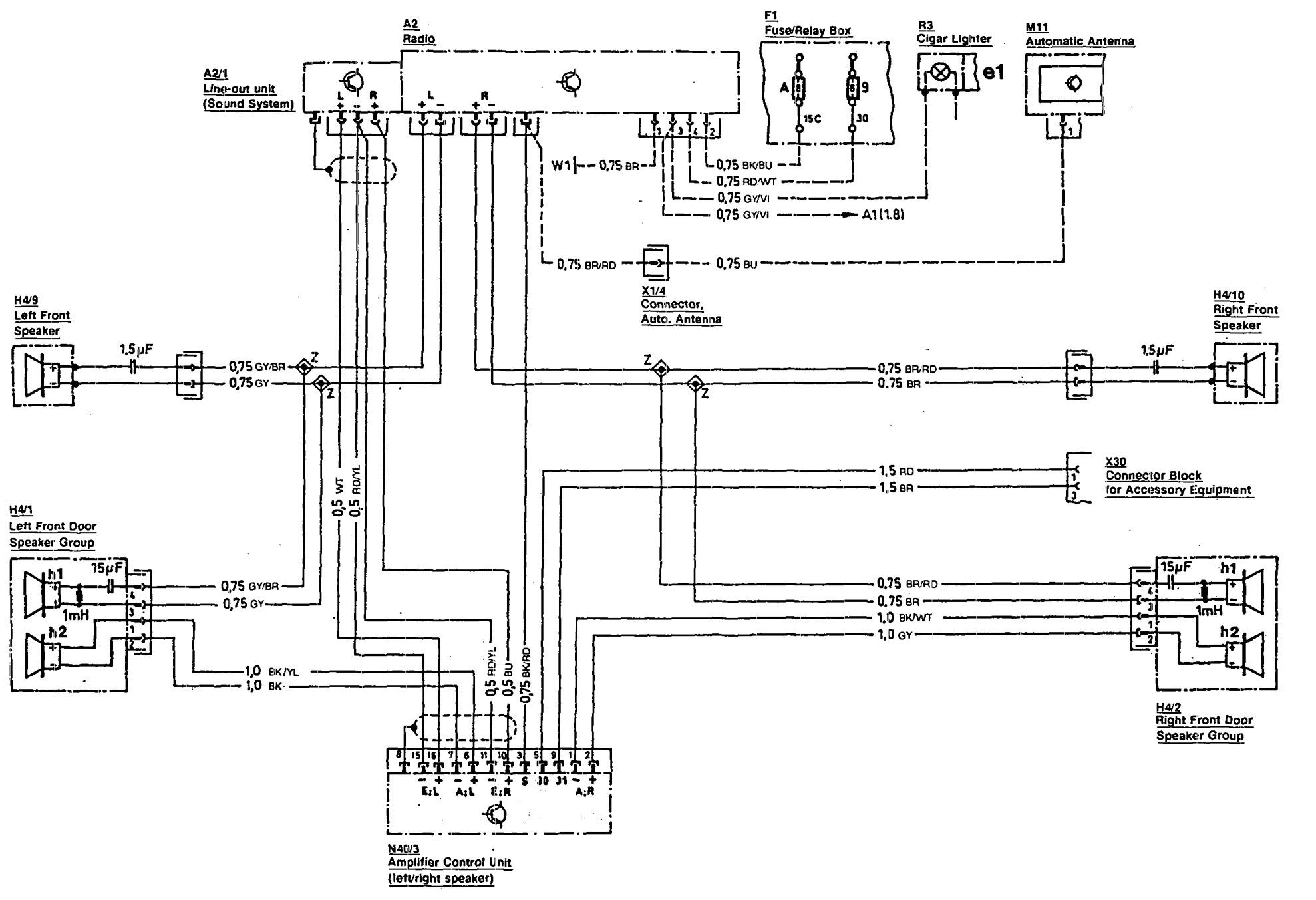 Mercedes 300sl Wiring Diagram Electrical Diagrams For Benz Car Radio 1991 300se Dayton