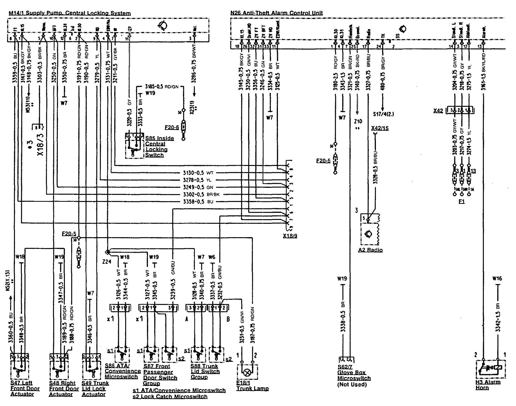 Mercedes 500sl Wiring Diagram