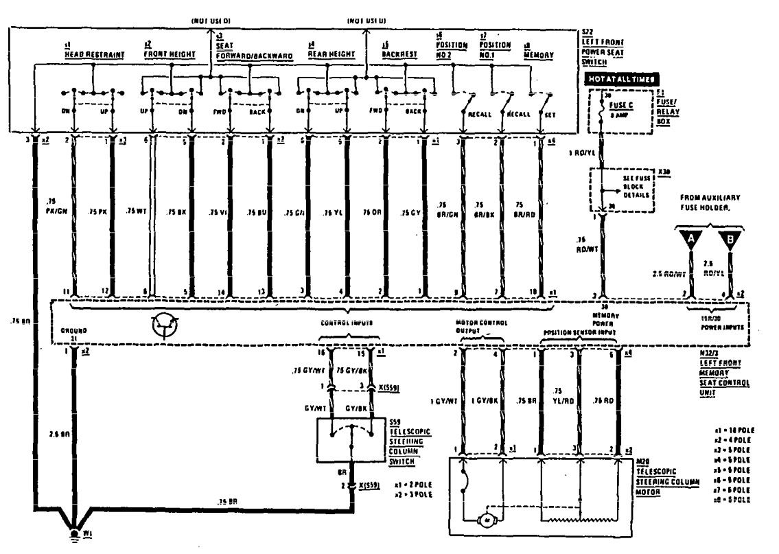 1984 Mercedes 300d Fuse Box Diagram FULL HD Version Box