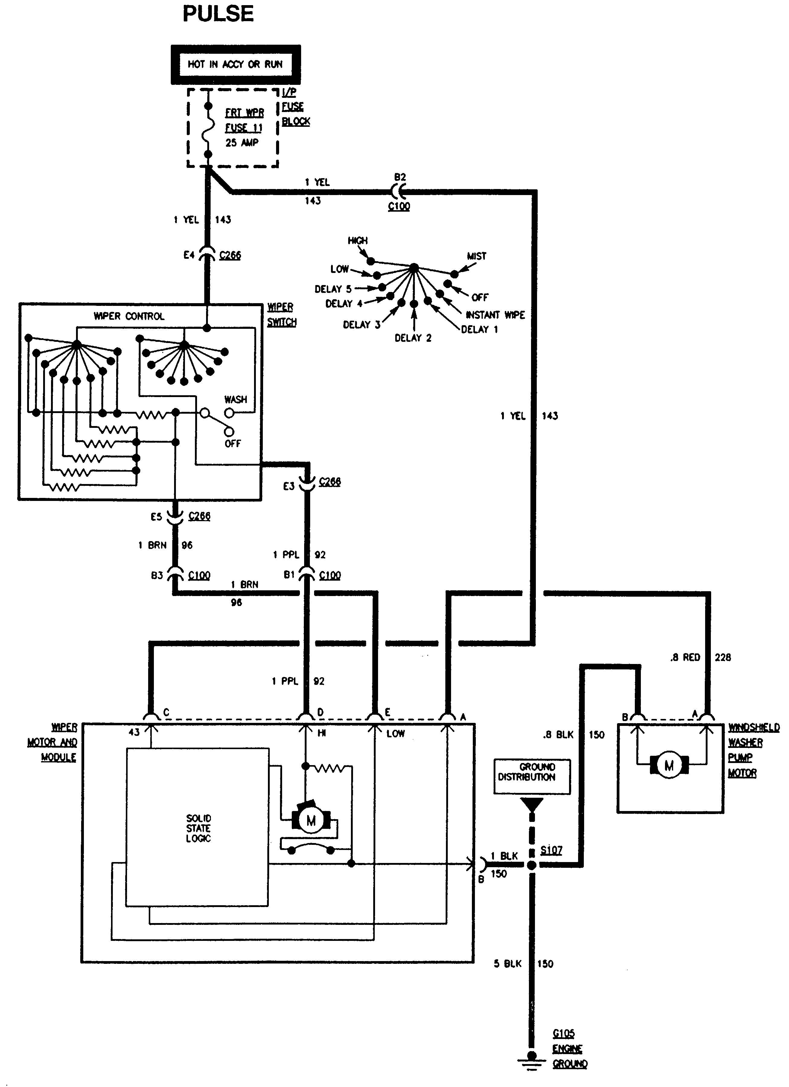 Gmc Sierra Wiring Diagrams Wiper Washer