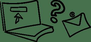 Image représentant l'envoi d'une demande au titulaire du droit d'auteur