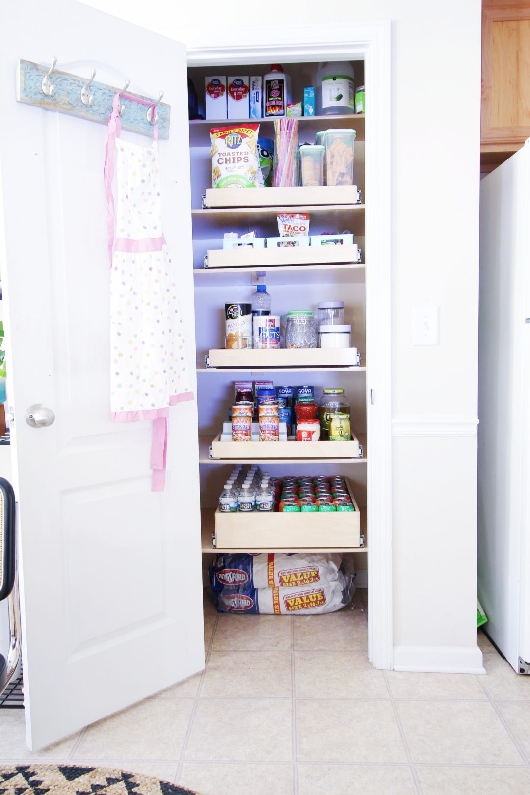 Small Pantry Organization Pull Out Shelves Carla Bethany