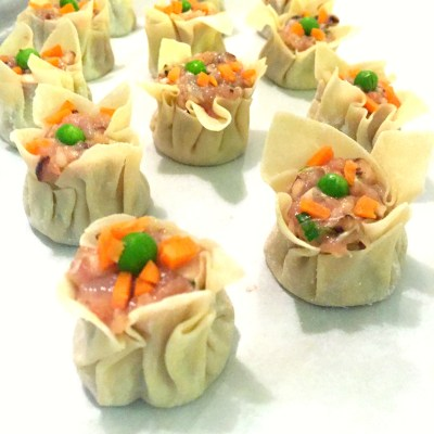Handmade Chicken and Shrimp Shumai Dumplings