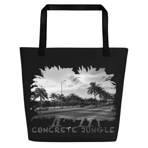 Concrete Jungle - Miami Beach, Florida - Carla Durham, travel photographer - Carla in the City - Carla Durham - large black tote bag