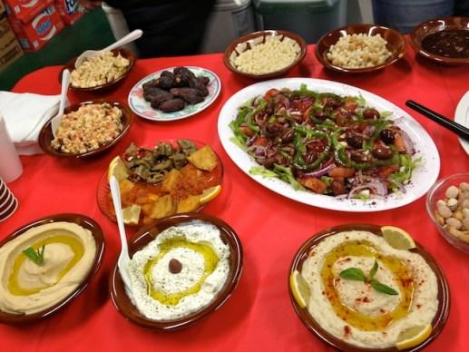 Love the Lebanese spread at Harkola.