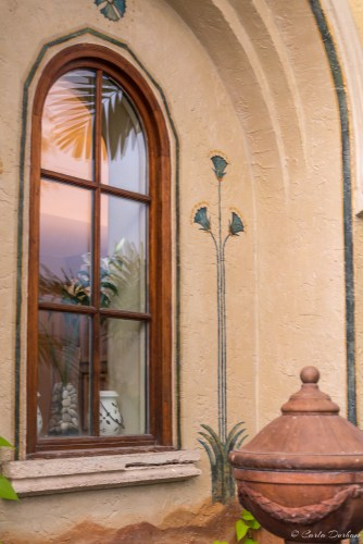 Window in the courtyard of the Impala Hotel in South Beach Miami Beach, Florida - Photographer Carla Durham - 50 Cities and counting
